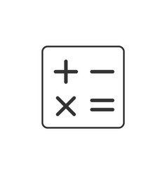 calculator math line icon simple modern flat for vector image
