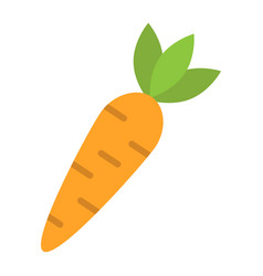 carrot flat icon vegetable and food diet sign vector image