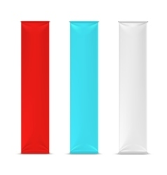 Color empty vertical advertising banner flags vector