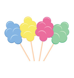 colorful candy cotton set vector image