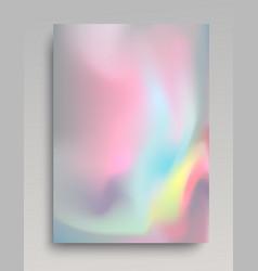 Colorful volumetric hologram background vector