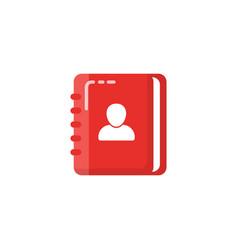 contact book icon design address book design vector image