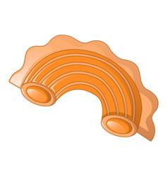 Creste di gallo pasta icon cartoon style vector