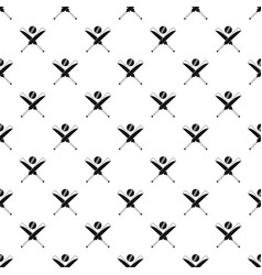 Cricket bats pattern seamless vector