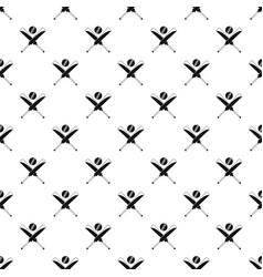 cricket bats pattern seamless vector image