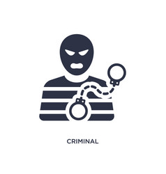 Criminal icon on white background simple element vector
