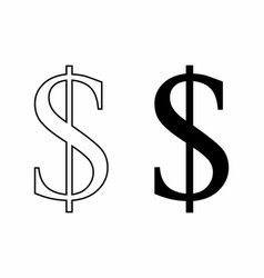 dollar signs vector image