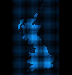 Dotted pixel great britain map vector