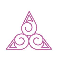 Droplet triskelion symbol vector