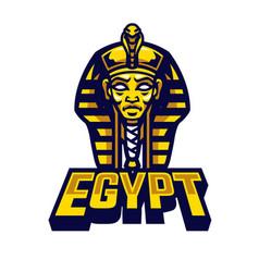 Egyptian sarcophagus logo vector