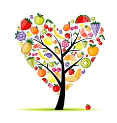Energy fruit tree heart shape for your design vector