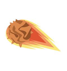 Flame meteorite icon flat de vector