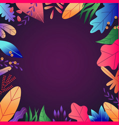 flat abstract colorful leaves pattern background vector image