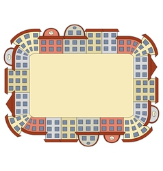frame made of buildings vector image