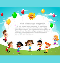 happy birthday party concept vector image