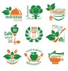 health food label vector image