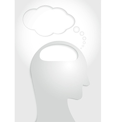 Human head think concept vector image
