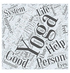 Improve your Personal Life with Yoga Word Cloud vector