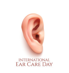 International ear care day vector