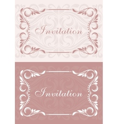 Invitation cards vector image
