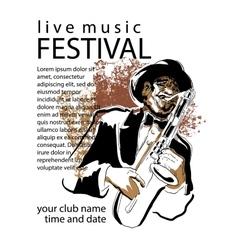 Jazz poster concept vector