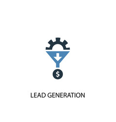 lead generation concept 2 colored icon simple vector image