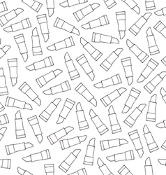 Lipstick seamless pattern sketch vector image