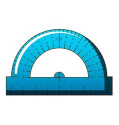 maths ruler icon cartoon style vector image