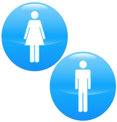 Men and women logo vector image