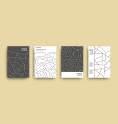 Modern abstract topography geometric covers set vector