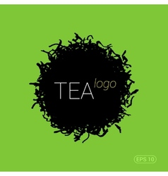 Modern logo for tea shop teahouse or company vector