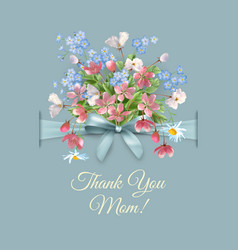 Mothers day greeting card vector