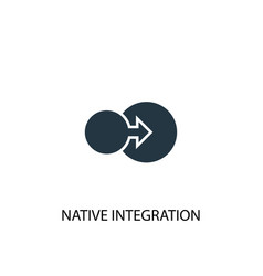 Native integration icon simple element vector