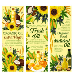 Natural oil and butter products vector