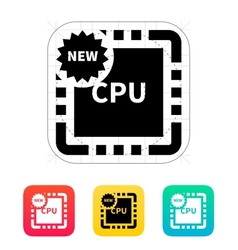 New CPU icon vector