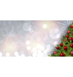 New Year banner with Christmas tree vector