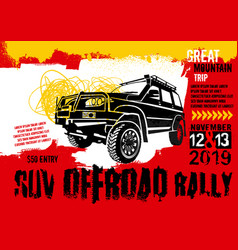 Off road rally poster vector