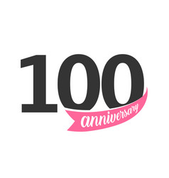 One hundred anniversary logo number 100 vector