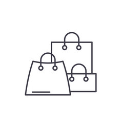online sales line icon concept online sales vector image