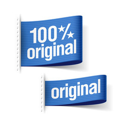 Original product labels vector image