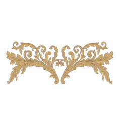 Ornament baroque vector