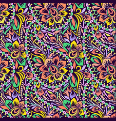 paisley - seamless colorful ethnic pattern vector image