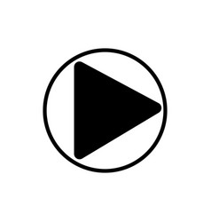 play music player button linear icon vector image