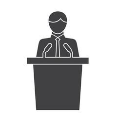 politician icon vector image