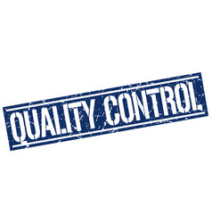 Quality control square grunge stamp vector