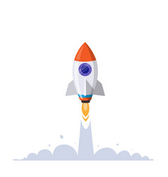 Rocket whipping into sky vector