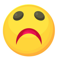 sad smiley icon cartoon style vector image