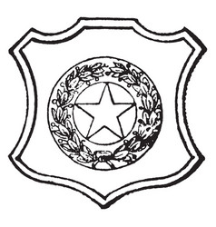 seal of the state of texas 1890 vintage vector image