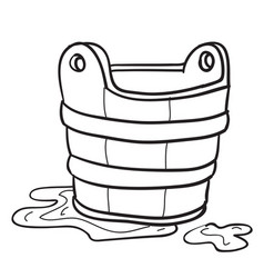 sketch cartoon character a basin with foam vector image