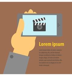smartphone horizontal vector image
